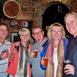 On our historic pub tour visitors enjoy a glass of beer or two
