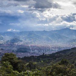 cityscape view of medellin