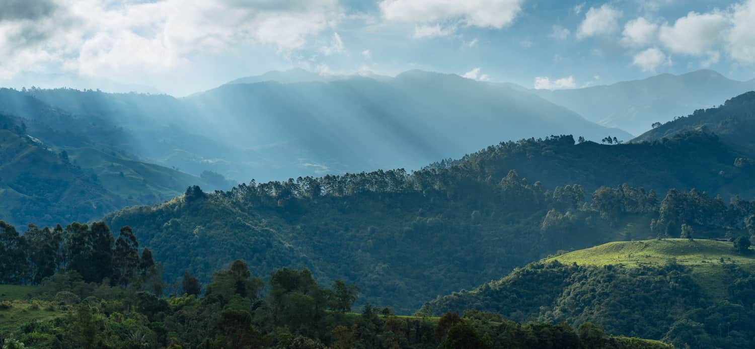 view of mountains in colombia