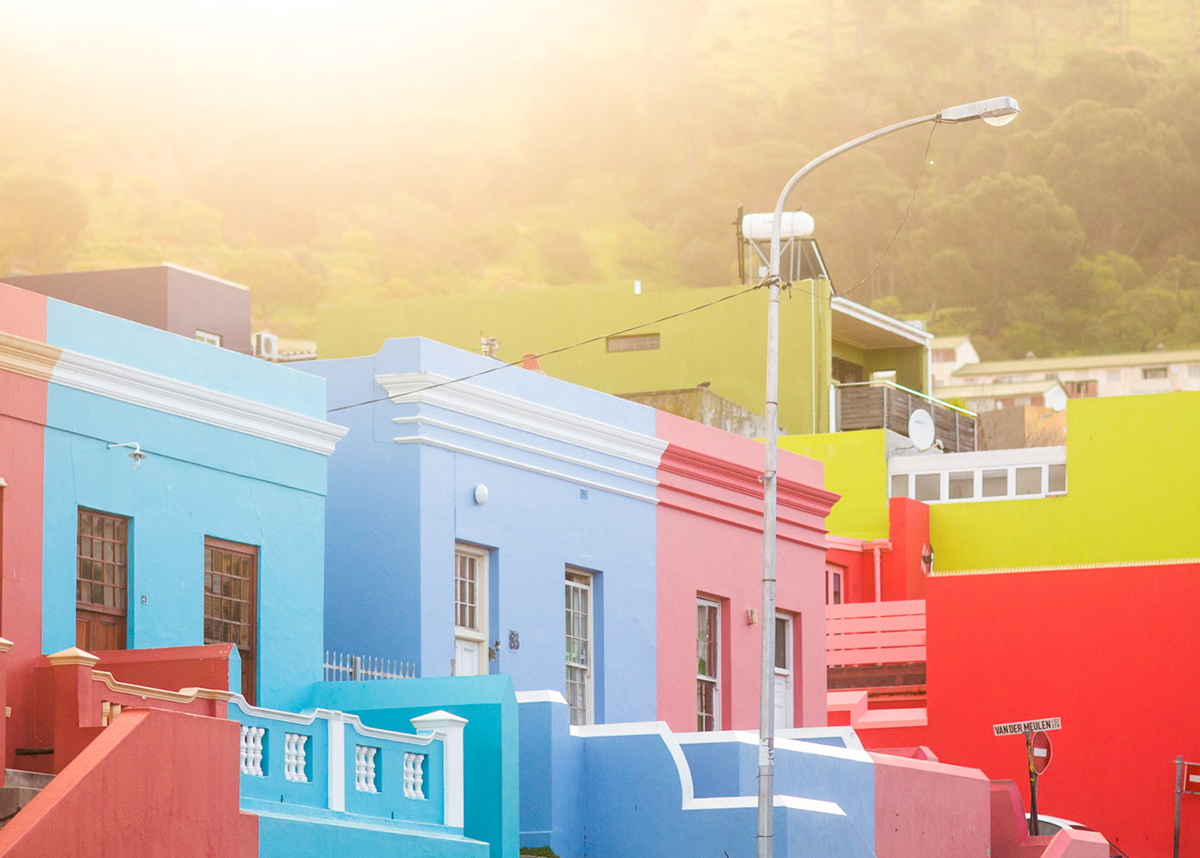 Brightly Coloured Terrace Houses